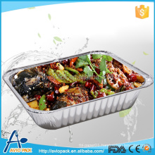Large disposable aluminium foil tray for BBQ,takeaway, fast food
