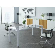 Mobiliário de escritório Mesa de conferência de vidro retangular pequena mesa de reunião de vidro (HF-LB17)