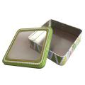 Fenêtre en PVC, forme carrée, métal, cadeau, emballage en étain, vente en gros
