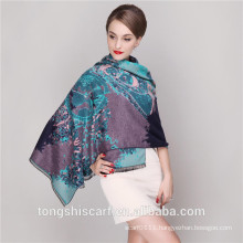 2016 Winter pashmina shawl scarf with printed