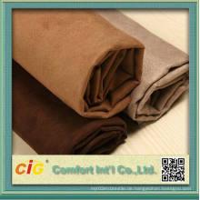 Neuer Style 100% Polyester Micro Wildleder Stoff für Sofa