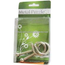 Juegos pequeños 3D IQ Metal Wire Puzzle