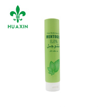 100ml plastic relieving gel offset printing tube packaging with flip top cap
