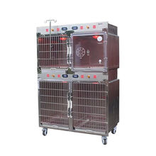 Veterinary equipment  stainless stelel dog kennels modular Cage Bank cage  with oxygen cabin door