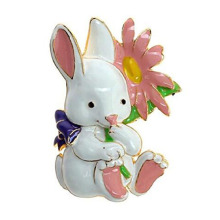 Cute Retro Easter Bunny Berenamel Bros Logam