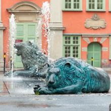 2018 high quality metal roman green lion statue