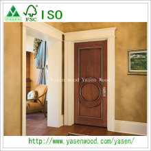 Top Quality Flush Solid Wood Single Leaf Front Doors