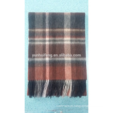 Melhor qualidade interior mongolia wool.pashmina lenço xadrez xadrez tartan