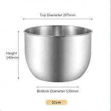 SUS 304 stainless steel egg beating bowl household baking tool deep basin cream mixing basin