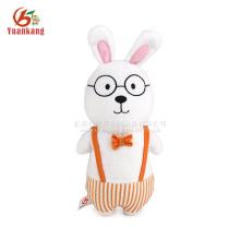 Brinquedo bonito do coelho de coelho do luxuoso de 25cm com vidros