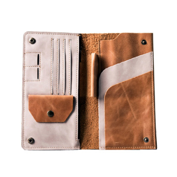 Cartera de pasaporte de cuero genuino Travel Wallet Bags