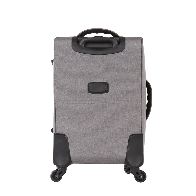 Printed polyester fabric spinner trolley soft luggage3