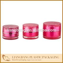 2015 новый style акрил. Rose jar Косметический фляга с тремя размерами и новой акриловой косметической банкой
