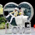 Romantic Crystal Iceberg Photo Frame for Wedding (JD-CD-803)