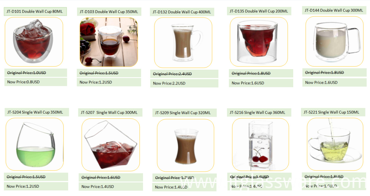 popular new desing glass cup