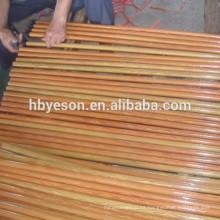 Mango de escoba de madera revestido de pvc de madera