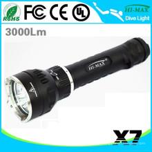 High Lumen Snorkel Dive Taschenlampe Magnetschalter auf Land / Unterwasser verwenden X7