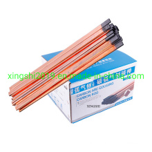 DC Copper Coated Pointed Arc Air Gouging Carbon Electrode Rod 6*305mm