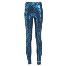 Hot sale fitness breathable lady clothing wear fish scale fashion women leggings