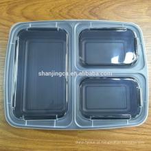 China Recipientes de alimento plásticos da microonda de Bento da lancheira da caixa 3 do compartimento para crianças