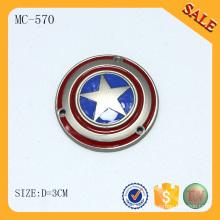 MC570 logo émaillé en émail doux personnalisé