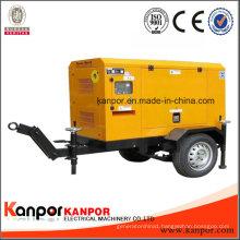 2017 Kanpor Newest Design Generator Easy Moved Trailer Type Diesel Genset Powered by Cummins / Perkins