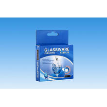 Tabletas de limpieza de cristalería