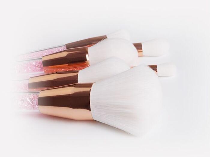 white hair makeup brushes
