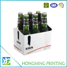 White Corrugated Cardboard Six Pack Beer Box