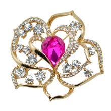 VAGULA позолоченные Розы цветок Кристалл брошь