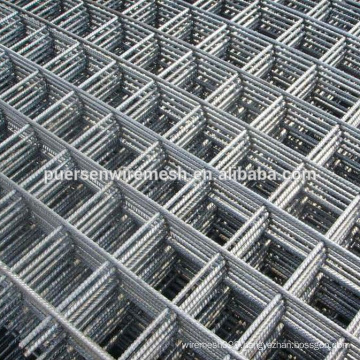 Cold ribbed concrete reinforcing steel mesh panel