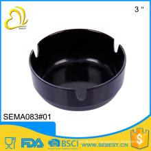 Hot wholesale portable custom size black melamine plastic ashtrays