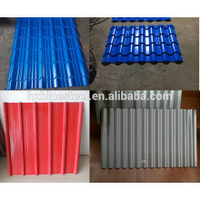Low Price Metal Roofing Sheet Panel For Sale , Corrugated Trapezoidal Step Tile Sheet Roof Panel Roof Tile