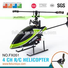 Новые функции! 2.4 G 4CH флуоресценции зеленый лезвие бесфлайбарной системы дизель вертолет с сертификатом CE/FCC/ASTM LCD экрана