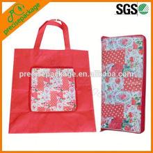 Bolso plegable reutilizable de la bolsa de la compra de la forma de la carpeta no tejida