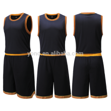 2017 Latest Basketball Black Jersey Design