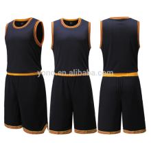 2017 mais recente projeto de camisa preta de basquete