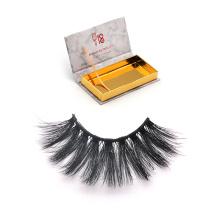 DL014 Hitomi custom lash box synthetic eyelashes manufacturer double layer private label 25mm silk eyelashes