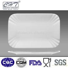 Fine bone china dinner food plates for restaurant