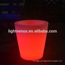 solar pequeno vaso de flor de decoração LED para venda por atacado, para a sala de visitas