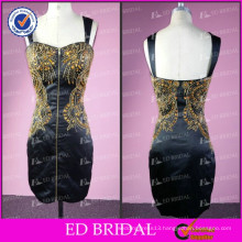 ED Bridal Sparkle Real Picture Sheath Sweetheart Low Back Beaded Short Evening Dress 2017