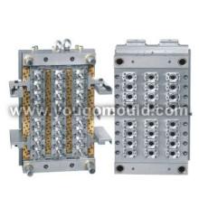 PET Preform mould (hot-runner valve gate)
