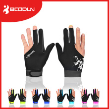 Smooth Lycra 3 Fingers Billiard Glove para Snooker