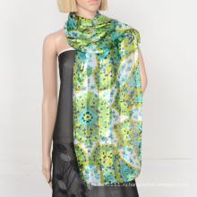 2016 мода сатинировки полиэфира полосой шарф с нестандартной конструкцией