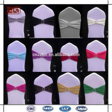 Guangzhou Supply Wedding Used Decoration Cheap Spandex Chair Sash With Buckle