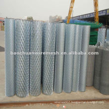 Hot zinc-plated red expanded metal/protecting fence/construction on the highway with reasonable price in store(manufacturer)