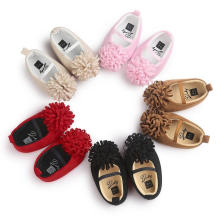 5 Цвета Хлопчатобумажная Ткань Мягкой Подошвой Детская Обувь Младенческой Малыша Мокасины