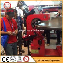 Máquina pulidora de cabezal de plato de acero inoxidable, máquina plegadora de cabezal inclinado, cabeza plato que forma la máquina