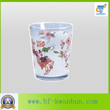 Printing Flower Tea Cup High Quality Glassware Kb-Hn0760