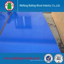 Grain de madeira de alta brilhante UV-Coated / placa de melamina / MDF